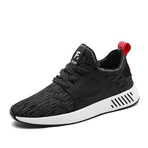 Hommes Chaussures de sport Respirant Loisir Entraînement Chaussures de course Formateurs Black
