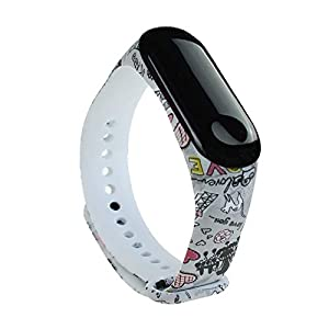 BITUBITU Reloj de Pulsera Mi Band 3 Pulsera de impresión Correa de reemplazo para Xiaomi Mi Band 3 2