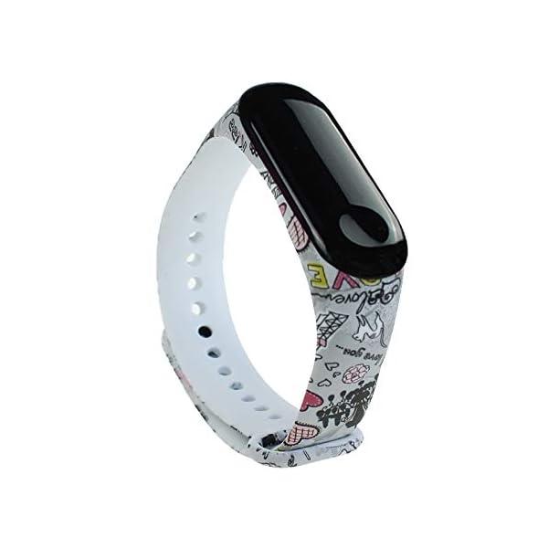 BITUBITU Reloj de Pulsera Mi Band 3 Pulsera de impresión Correa de reemplazo para Xiaomi Mi Band 3 1