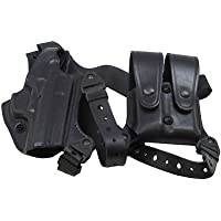 Gould & Goodrich Shoulder Holster w/Double Mag Pouch, Black, Right Hand - Sig by Gould & Goodrich
