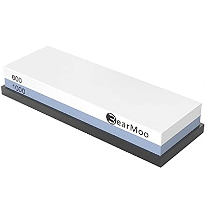 Whetstone 600/1000 Grit Sharpening Stone BearMoo Premium Professional Double-Sided Sharpening Stone Set