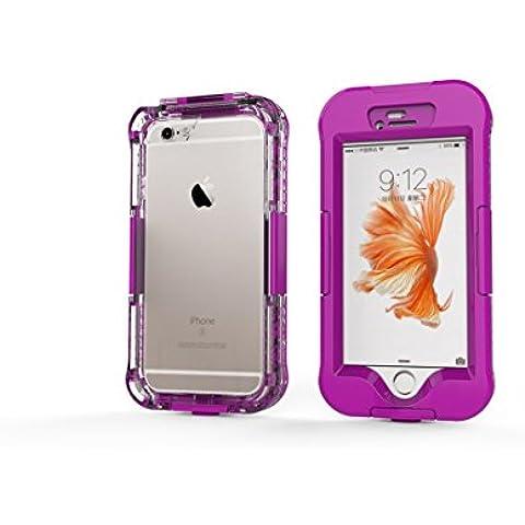 DBIT iPhone 6 Custodia Impermeabile,IP68 Certificato Sigillatura Completa Case Anti-sporco Cover Protettiva Waterproof Impermeabile Antiurto per Apple iPhone 6s,Rose
