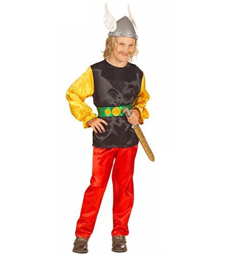 Kostüm Berühmte Schnurrbärte - Widmann-Gaulois bekannten Kostüm Krieger Kämpfers, in Größe 8/10Jahre
