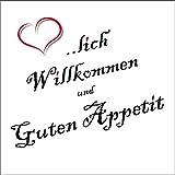 Servietten Sprüche Herzlich Willkommen Essen Spaß Familie 20 Stück 3-lagig 33x33cm …