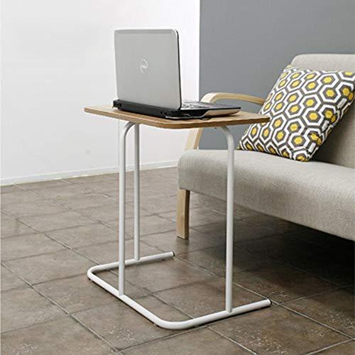 Zhuozi FUFU Tische TV Tablett Tisch Snack Tisch Sofa Couch Kaffee Ende Tisch Bett Beistelltisch Laptop Schreibtisch für Home Office Drop-Blatt-Tabelle (Farbe : White Frame, größe : 60 * 40CM)
