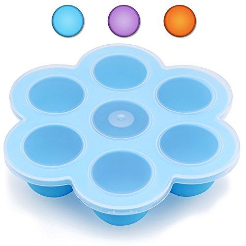 Belmalia Gefrier-Behälter Gefrier-Form zum Einfrieren von Babynahrung, multifunktional Blau
