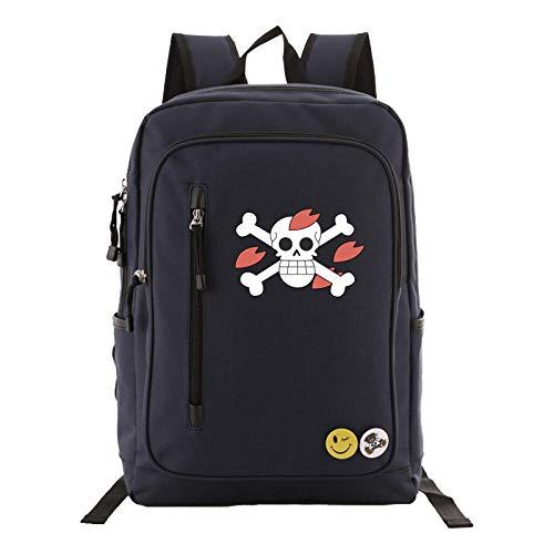 Student Abschnitt Kostüm - JJJDD One Piece Backpack Student Tasche Computer Tasche Jungen und Mädchen Schulrucksack Outdoor Reisetasche @Navy_A