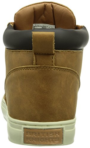 British Knights WOOD, Sneaker alta Uomo Marrone (Braun (Cognac-DK Brown03))