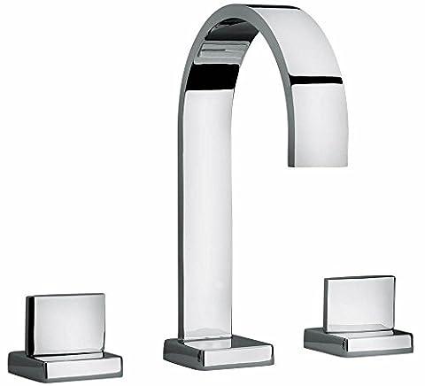 Jewel Faucets Two Lever Handle Roman Tub Faucet (Antique Brass)