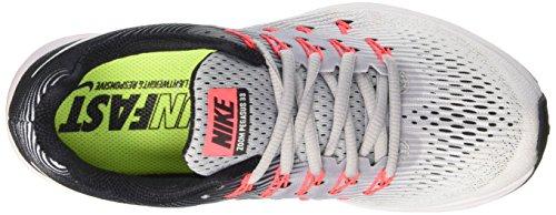 Nike Wmns Air Zoom Pegasus 33, Entraînement de course femme Multicolore (Wolf Grey / White / Black / Hot Punch)