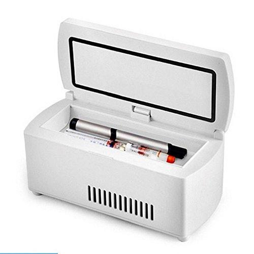 wenrit Refrigerador portátil de la insulina de la Mini Caja refrigerada Medicina portátil con el Coche 2~25 ° C