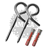 AMACA Sicherheits-Schaukelhaken 10,0 x 160 mm mit Fischer Dübel, zwei Stück