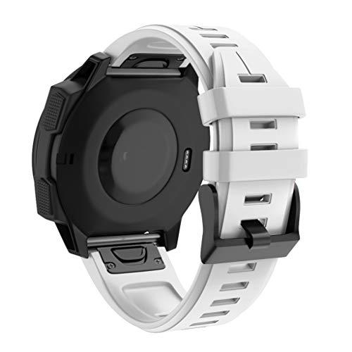 QHJ Armband für Garmin Forerunner 945,Uhrenarmbänder Silikon Quick Release Soft Rubber Ersatz Uhrenarmbänder für Männer und Frauen, Mehrere Farben (Weiß)