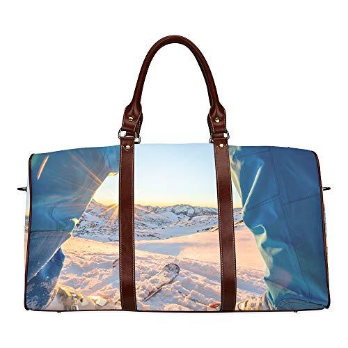 Reise-Seesack Extreme Spannung Snowboarden wasserdichte Weekender-Tasche Reisetasche Frauen Damen-Einkaufstasche Mit Mikrofaser-Leder-Gepäcktasche