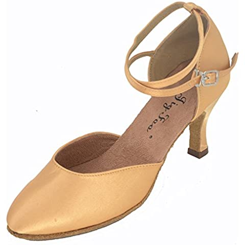 Plantilla Flipmycover bombas zapatos de baile de las mujeres naranja canela Talla:UK 9,5/44
