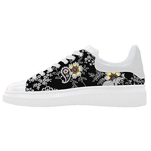 Dalliy Floral Flower Men's Canvas shoes Schuhe Lace-up High-top Sneakers Segeltuchschuhe Leinwand-Schuh-Turnschuhe C