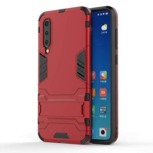 HDRUN Cover Xiaomi Mi 9 SE - 2 in 1 Dual Hybrid Layer Hard Plastic Case and TPU Soft Anti-Scratch Resistant Protective Cover Case for Xiaomi 9 SE, Red