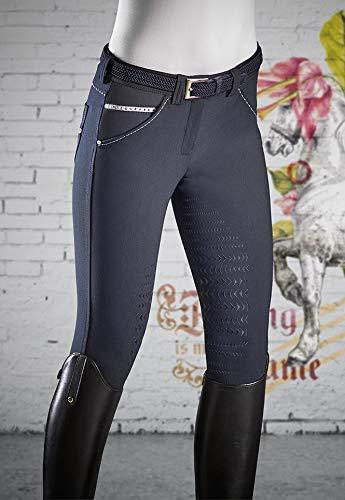 Equiline Damen Reithose Jessica Halfgrip Farbe Reitbekleidung blau, Hosengrößen 34