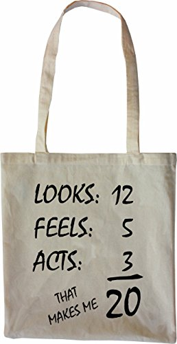 Mister Merchandise Tote Bag 20 Years - Looks Feels Acts Borsa Bagaglio , Colore: Nero Naturale