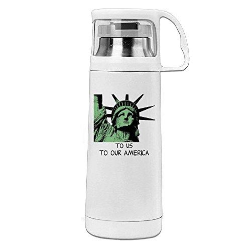 kuum Isoliert Tumbler bis Amerika isoliert Getränke Flasche Weiß 14oz/350ml ()