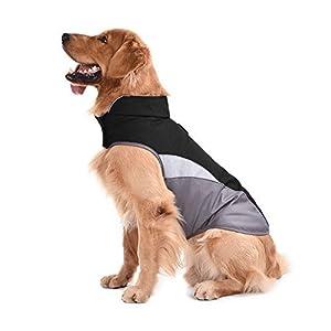 Sild coupe-vent imperméable Empêche la pluie en nylon avec Sport Gilet pour chien Vêtements Nuit Veste réfléchissant pour animal domestique de maintien au chaud pour homme
