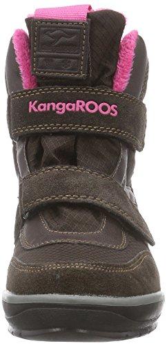 KangaROOS Kangasnowgirls 2019, Bottes de neige de hauteur moyenne, doublure chaude mixte enfant Marron - Braun (dk brown/magenta 366)