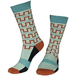 Musterbrand Zelda Socks Unisex Hyrule Walk cotton calf high Light Green 38-42