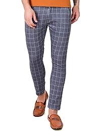 Lafantar Men's Checked Casual Trouser
