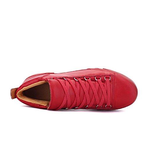 Uomo Scarpe sportive Moda Antiscivolo impermeabile traspirante scarpe basse Red