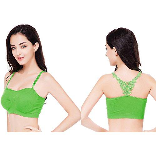 Büstenhalter,Manadlian Frauen Sport Unterwäsche Grün
