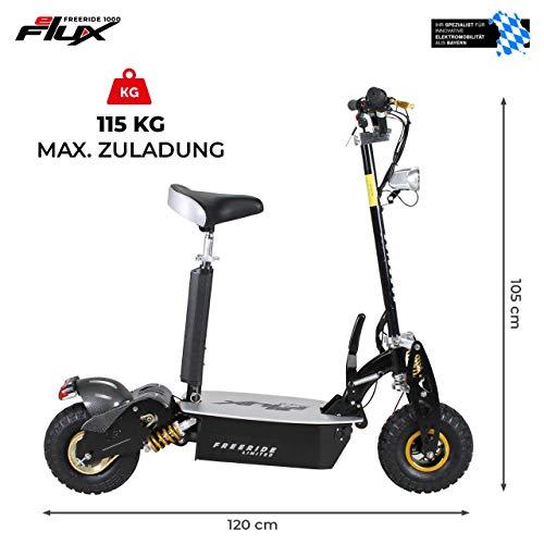 E-Scooter Roller Original E-Flux Freeride 1000 Watt 48 V mit Licht und Freilauf Elektroroller E-Roller in vielen Farben (Limited Gold) - 4