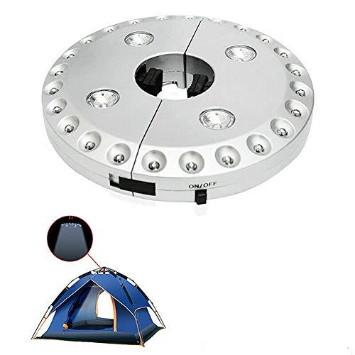RUNI MO Umbrella Light 3 Helligkeitsmodi Tragbares LED-Zeltlicht für Sonnenschirme - Campingzelte - Outdoor (White, 6.3 x 6.3 x 1.1 inches)