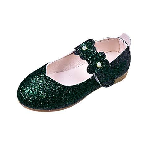 JiaMeng Sommer Kinder Kind Baby Mädchen einfarbig Blume Bling Student Einzel Tanz Prinzessin Schuhe ZXTY19.