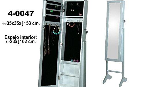 DonRegaloWeb-Espejo-joyero-de-pie-con-puerta-y-llave-de-madera-en-color-plateado