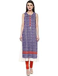 Rangmanch By Pantaloons Women's Straight Fit Cotton Kurta
