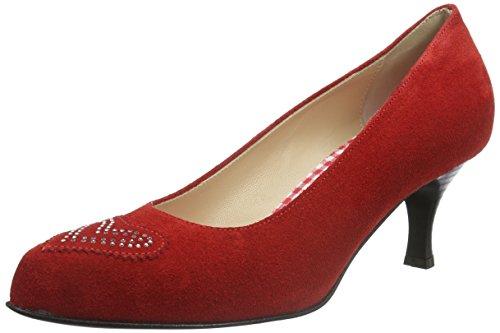 Diavolezza Damen Diana Pumps Rot (Red)