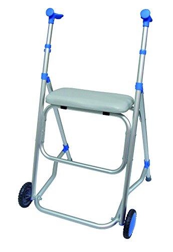 Andador plegable de aluminio con asiento