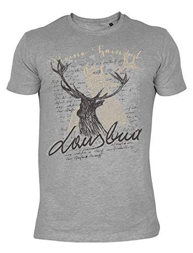 Trachtenmode T-Shirt: Hirsch Lausbua - Hirsch Herren T-shirt