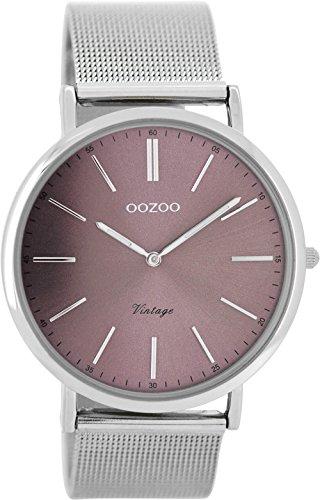 Oozoo Damen Digital Quarz Uhr mit Edelstahl Armband C8155