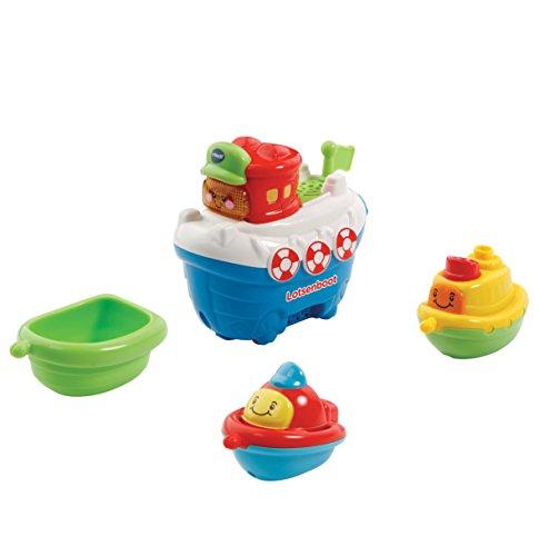 VTech Baby 80-500304 - Tut Baby Badewelt - Lotsenboot mit Freunden (Boot-set Baby)