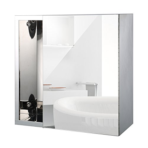 #Homcom® LED Spiegelschrank Lichtspiegel Badspiegel Badschrank Badezimmerspiegel Wandspiegel 15W (Modell 6)#