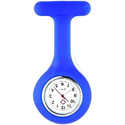 Blue Infection Control Silicone Health Care Workers Nurses Fob Watch by VAGA®