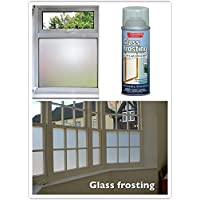 2 x Professional Quality Glass Frosting Spray (250ml) - For Decorating, Security & Privacy in the Home - Swan household ®
