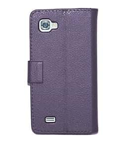 U-Bop PurVIEW Horizontal Leather Case Stand for LG Optimus 4X HD P880 - Purple