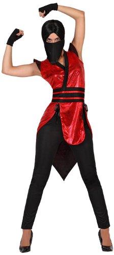 Atosa 22795 - Ninja weibliches Kostüm, Größe M-L, (Eine Kostüm Ninja Weibliche)