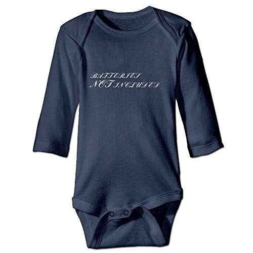 Neugeborenes Baby-Jungen-Mädchen-Bodysuit-Lange Hülse, Batteries Not Included Toddler Baby Boy Girl Cartoon Bodysuit Playsuit Outfits Casual Clothes Navy - Dusche Blau Liner-navy Vorhang