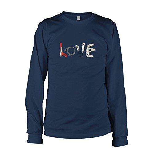 TEXLAB - Banksy Gaming - Herren Langarm T-Shirt, Größe XXL, dunkelblau