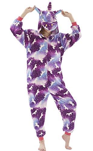 Erwachsene Unisex Einhorn Tiger Lion Fox Onesie Tier Schlafanzug Cosplay Pyjamas Halloween Karneval...