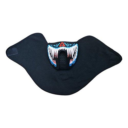 BESTOYARD Draht Glowing Maske Luminous Voice Control LED Light up Cool Masken für Festival Party Show
