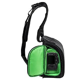 Amcool Kamerarucksäcke für Canon Nikon Sony, Luxus Wasserdicht DSLR Fall Kamera Tasche(Grün)